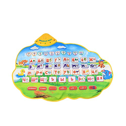 HotMall-US Preschool Toy, Children Musical Mat Russian Alphabet Language Kids Early Educational Puzzle Toy from HotMall
