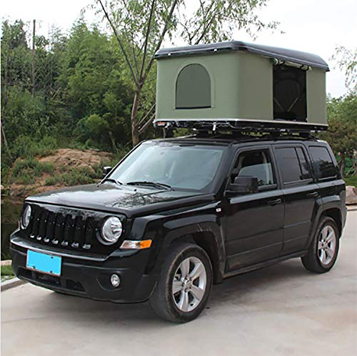 Car Roof Tent Hard Shell 2-3 People Automotive Rooftop Tent Outdoors Hiking Equipment with Ladder