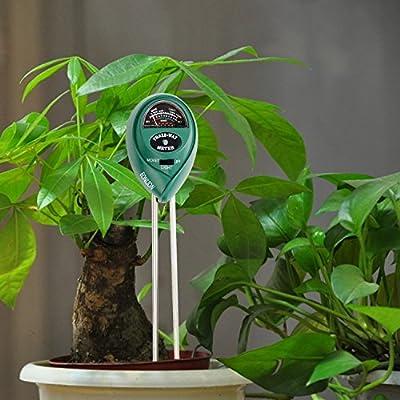 EONLION Soil pH Meter, 3 in 1 Soil Test Kit for Moisture, Light & pH or Acidity, Gardening Tools for Home, Lawn, Garden, Farm, Indoor Outdoor Plant Care Soil Tester (No Battery Needed)