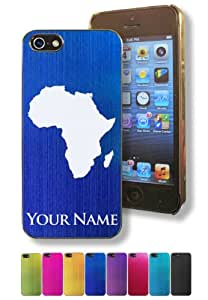 Apple Iphone 5/5S Case/Cover - AFRICAN CONTINENT - Personalized for FREE (Click the CONTACT SELLER button after purchase and send a message with your case color and engraving request)