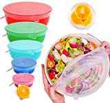ExcelGadgets Silicone Stretch Lids, Reusable