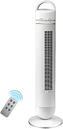 Opinión sobre FHDF Ventilador de Torre silencioso oscilante con Mando a Distancia, Portátil Bladeless aspas Tower Fans 3 velocidades 3 Modos 8H Temporizadorr para El Hogar Y La Oficina, H100cm (40W, Blanco)
