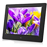 MRQ 8 Inch Digital Photo Frame Display Photos with Background Music 1080P Video