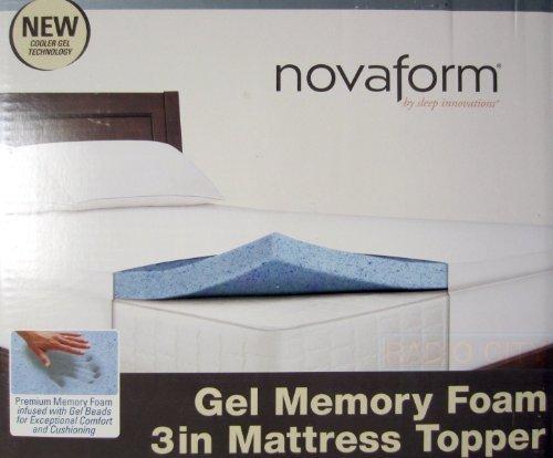 Novaform Gel Memory Foam 3 Inch Mattress Topper-Twin Size