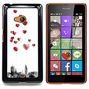 Stuss Case / Funda Carcasa protectora - Ciudad Amor Acuarela Globos - Nokia Lumia 540