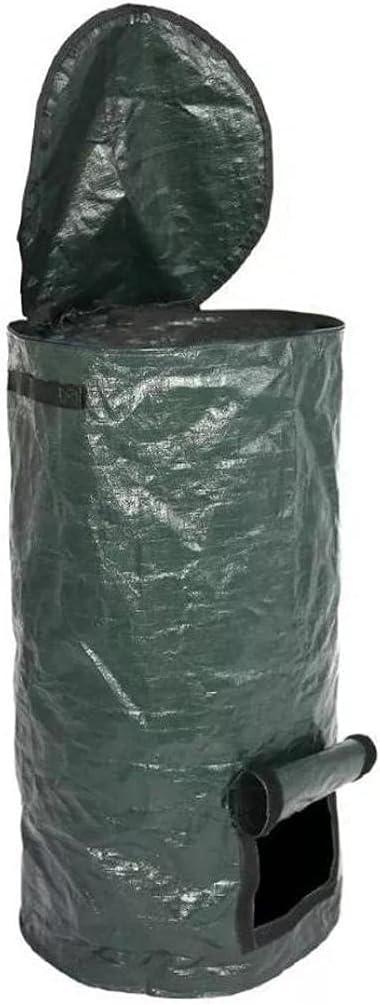 Garden Compost Bag, Composter Bin Pe Environmental Homemade Organic Ferment Waste Disposal for Yard