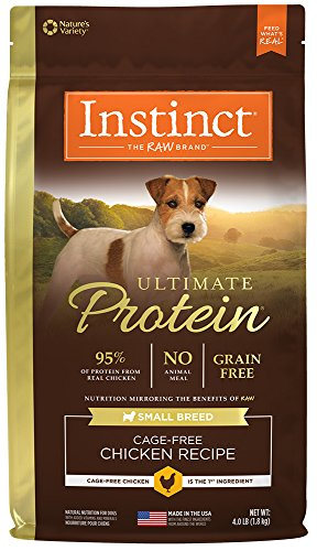 Instinct Ultimate Protein Small Breed Grain Free Cage Free Chicken Recipe Natural Dry Dog Food by Nature's Variety, 4 lb Bag