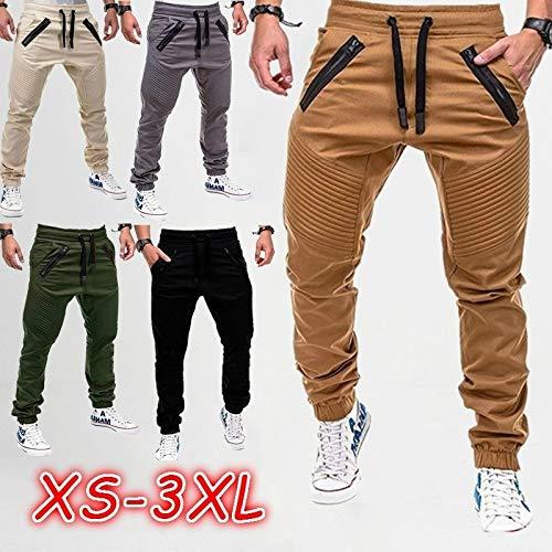 Hot Fashion Male's Sport Joggers Trousers Jogging Fitness Pant Casual Fold Pant Sweatpants 6 coloursX(Navy Blue,M)