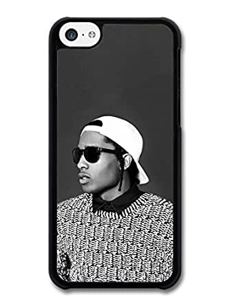 AMAF ? Accessories ASAP Rocky Black and White Portrait with Sunglasses case for iphone 6 plus