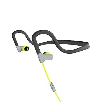Energy Sistem Sport 2 - Auriculares Deportivos intrauditivos (Neckband-fit, tecnología Sweatproof, Control de reproducción, micrófono) Color Amarillo: ...