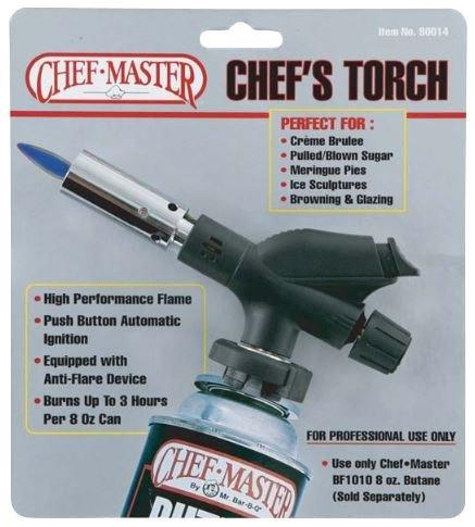 Chefmaster Cef 90014 Pro Chef Torch 8Oz 3Hr Anti-Flare Can 1 CEF 90014