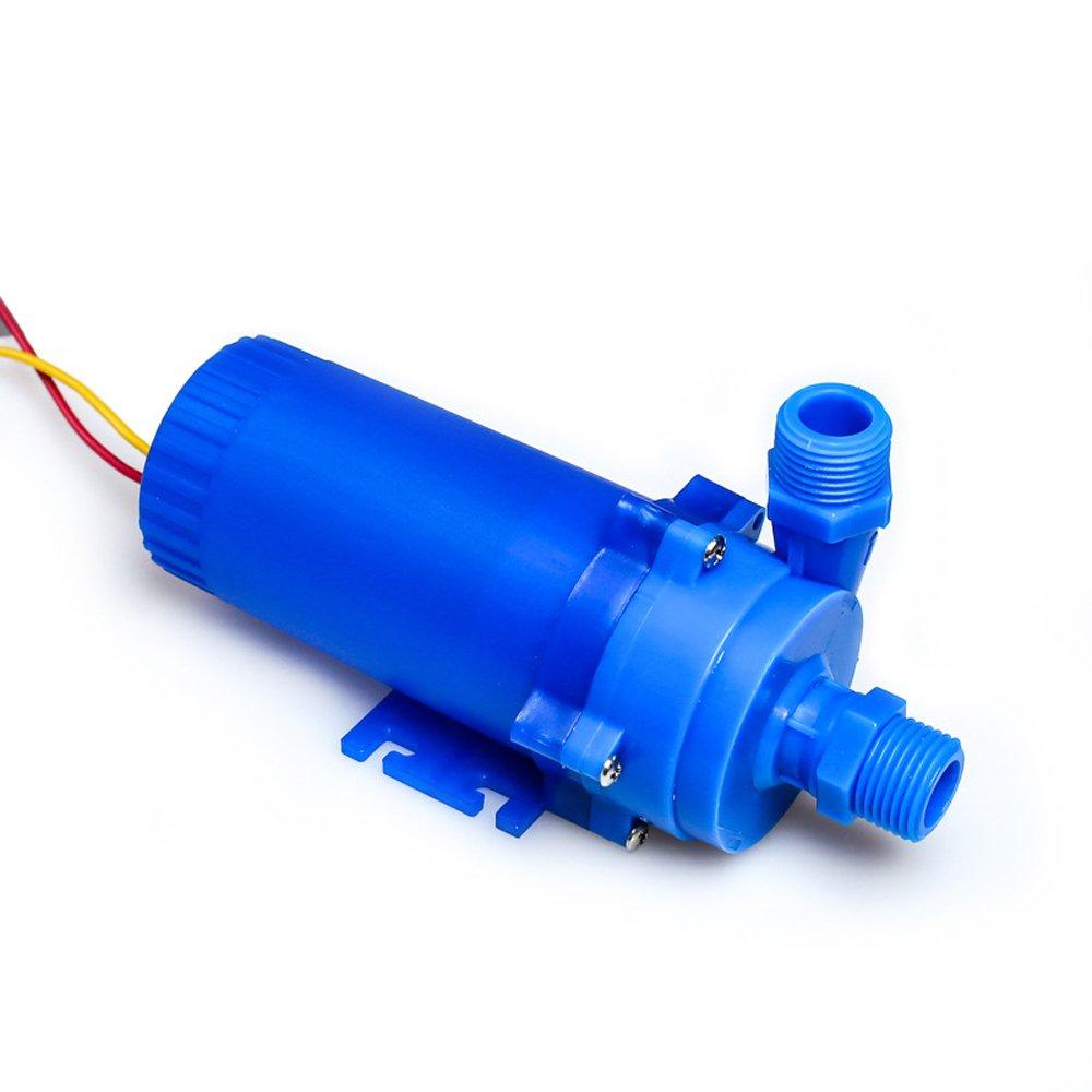 NUZAMAS 12V 85W DC Pump 14L/min, 8m Lift Solar Hot Water Heater System, Fountains, Aquarium Circulation, Water Cooling System Pump