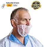 """100 Pack of Disposable Beard Covers 21"""". White"""