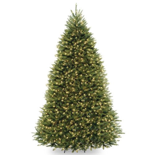 National Tree 9 Foot Dunhill Fir Tree with 900 Clear Lights, Hinge Deal (Large Image)