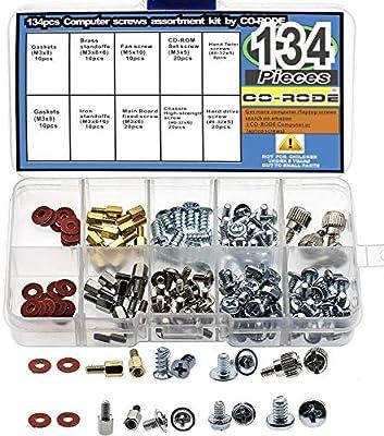 PC Ordenador Tornillos Kit 134pcs para disco duro de ordenador placa base gráfica de alimentación para ventilador Tornillo CD-ROM montaje: Amazon.es: Informática
