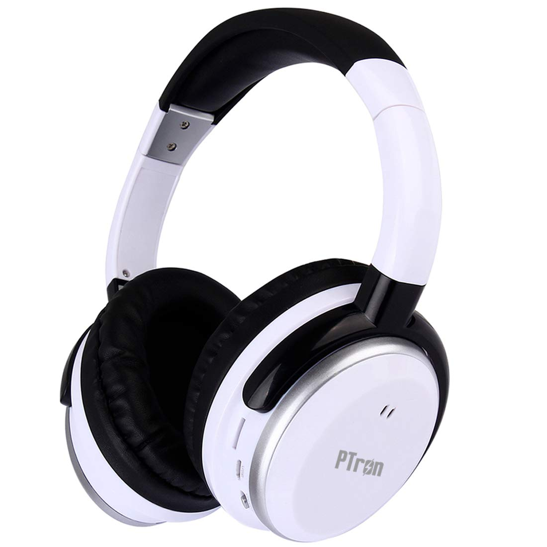 PTron Rodeo Over-Ear Bluetooth Headphones (White)