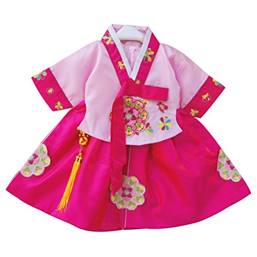 CRB Fashion Little Girls Toddler Korean Cultural Traditional Hanbok Outfit Dress Costume (2 to 3 Years Old, Style #1) -