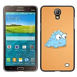 EJOY---Cubierta de la caja de protección para la piel dura ** Samsung Galaxy Mega 2 ** --Poco Luz Dinosaurio criatura azul Arte de la historieta