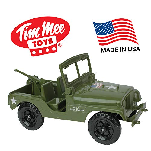 - TimMee Recon Patrol M38 Military 4x4 - Olive Green Action Figure Size - Made in USA