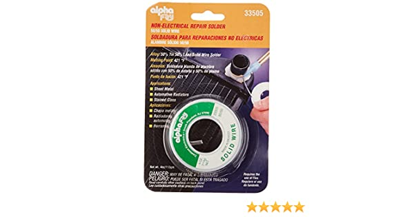 Alpha Fry AM33505 Cookson Elect 50/50 Solder Solid Wire