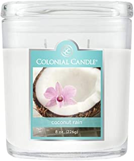 product image for Colonial Candle Coconut Rain Jar Candle, 8 oz, White,CC008.2074