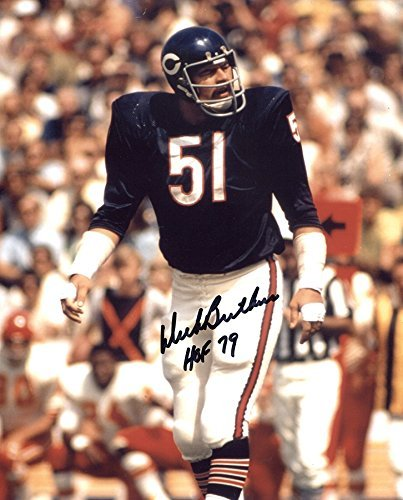 Dick Butkus Signed Autographed Chicago Bears 8x10 Photo Inscribed HOF 79 TRISTAR COA