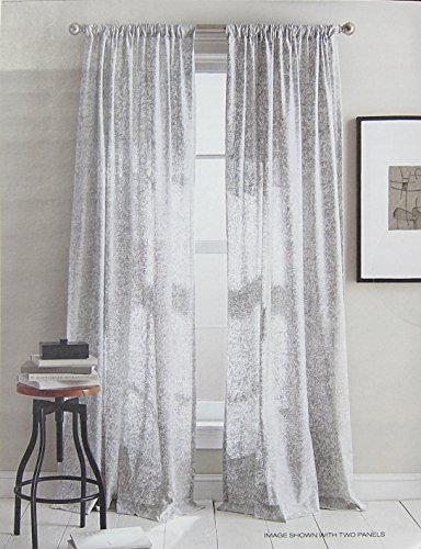 Amazon DKNY Set Of 2 Extra Long Window Curtains Panels 50 By 96 Inch Contemporary Modern White Silver 100 Cotton Drapes Road Pocket Home