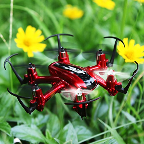 RC Mini Drone, JJRC 4 Channel 2.4GHz 6-Axis Gyro Aircraft Unmanned Pocket Helicopter + Headless Mode 3D Roll Remote Control Quadcopter For Adult Kids Aerial Photography Racing,by ECLEAR - Red