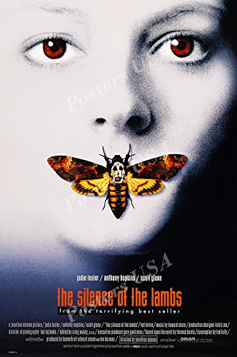"""Posters USA - The Silence of the Lambs Movie Poster GLOSSY FINISH) - MOV123 (24"""" x 36"""" (61cm x 91.5cm))"""