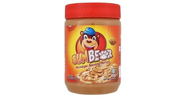 Amazon.com : Sun Bear Peanut Butter 500g/510g (628MART) (Chunky 500g, 6 Cans) : Grocery & Gourmet Food