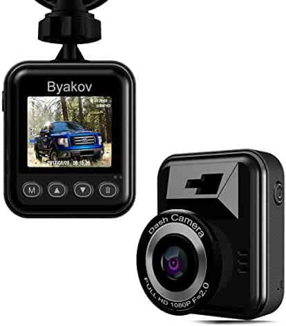 Dash cam, Byakov Dash Camera for Cars Camera Full HD 1920x1080p 1.5inch LCD Screen Mini Dash Cam for Car 170 Degree Angle Car Dash-Cam with G Sensor, Loop Recording, WDR, Motion Detection