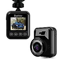 Dash cam per auto, Byakov telecamera auto dash cam macchina fotografica Full HD 1920x1080p Schermo da 1,5 pollici Mini Dash Cam per auto 170 gradi Angolo auto Dash Cam