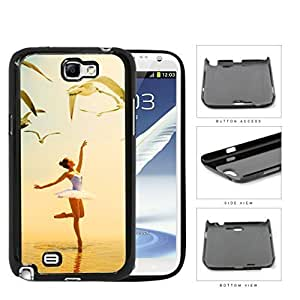 Ballerina Dancing With Pigeons Flying Hard Plastic Snap On Cell Phone Case Samsung Galaxy Note 2 II N7100 Kimberly Kurzendoerfer