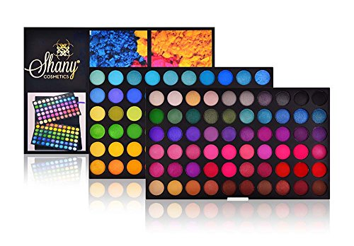Essential Eye Shadow Palette (SHANY Cosmetics SHANY Eyeshadow Palette, Bold and Bright Collection, 120 Vivid Color, 13 Ounce)