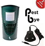 PestBye® Advanced Cat Repellent - Ultrasonic Waterproof Cat Scarer with 3 Pin Mains Adaptor