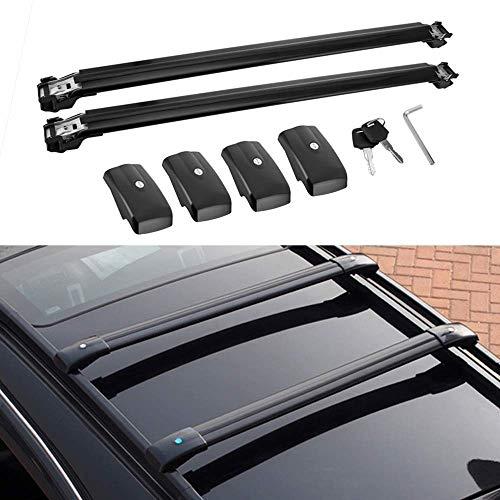 MotorFansClub Roof Racks Crossbars for Mercedes Benz X164 GL450 2006-2012,Lockable Baggage Luggage Racks Roof Rail Cross Bar (2 PCS) (Mercedes Benz Roof)