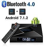 Android TV Box, ABOX 2018 Model X4 Android 7.1 TV Box 2GB RAM 16GB ROM Amlogic Quad Core A53 Processor 64 bits Real 4K Playing[ Bluetooth 4.0]