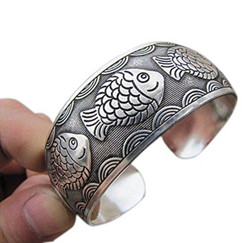 Silver Tibetan Bangle (Great Deal(TM) Cuff Bracelet Tibetan Tibet silver Bangle)
