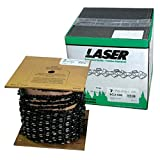 LASER Chainsaw Chain SEMI CHISEL 3/8 Inch Pitch & 058 Inch Gauge 25 Ft - Fits Bars For STIHL, Husqvarna, Craftsman And Other Major Brands