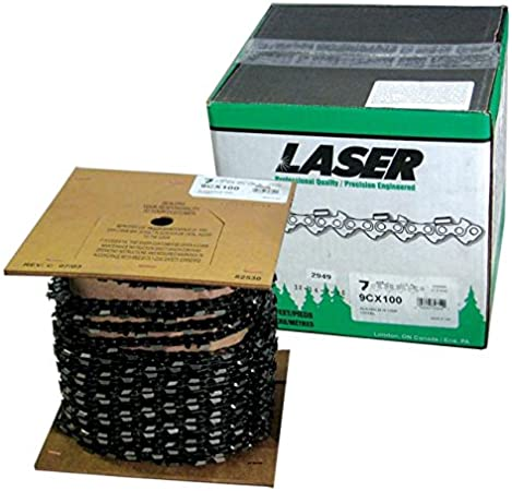 LASER Chainsaw Chain FULL CHISEL 3//8 Inch Pitch /& 058 Inch Gauge 100 Ft