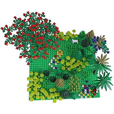 Yamix Garden Park Flower Botanical Scenery Building Block Toy with Base Plates Trees Flowers Plants Classic Building Bricks Compatible with Major Brands: Toys & Games