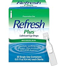 REFRESH PLUS Lubricant Eye Drops Single-Use Containers 30 Each (Pack of 4) by Refresh