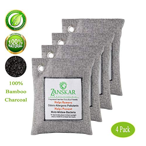 - Zanskar Nature Fresh Air Purifying Bag,Bamboo Charcoal Air Purifier Bags,Charcoal Bag for Car Closets,Bathroom and Pet Areas,Car Air Freshener
