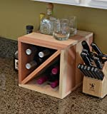 "Creekside 6 Bottle Countertop Wine Cube, 12"" Deep, Redwood"