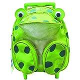 Sassafras Animal Pull-Along Backpack Frog, Bags Central