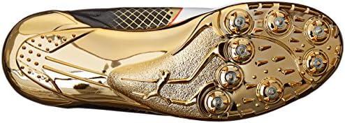 PUMA Men's Evospeed Electric Bolt Tricks Track Shoe, Gold