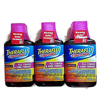 Amazon Com Theraflu Expressmax Syrup For Flu Cough And