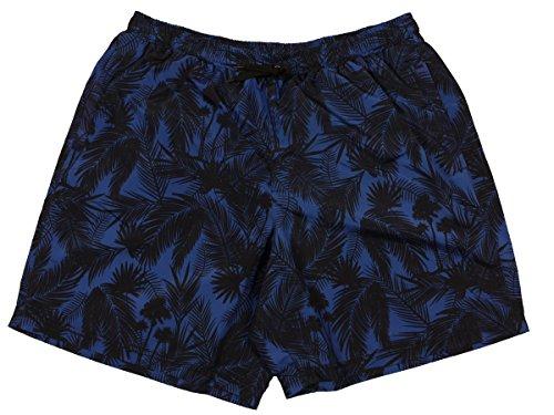 Übergrößen !!! Schick! Bade-Shorts von MARC & MARK JIM 2 Palme schwarz/blau 3XL - 10XL