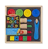 Melissa & Doug Shape, Model, and Mold Clay Activity Set - 4 Tubs of Modeling Dough and Tools