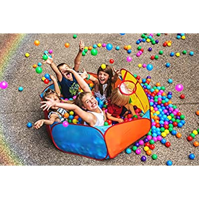 Playz Ball Pit, Play Tent and Tunnels for Kids, Gift for Toddler Boys & Girls, Best Birthday Gift for 1 2 3 4 5 Year old, Pop Up Baby Play Toy, Indoor & Outdoor Use as Portable Play Center Storage Bag: Toys & Games